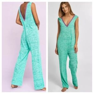 Pitusa Perivian Retro Jumpsuit Cover Up Mint